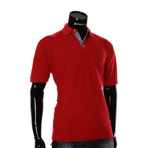 Cotton Red T-shirt Polo MAL 52R