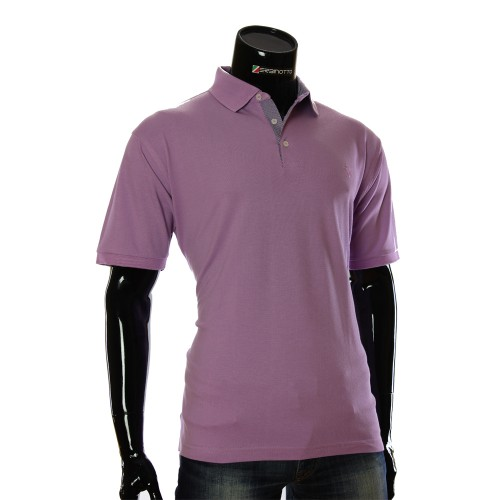 Cotton Violet T-shirt Polo MAL 54V