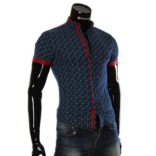 Мужская рубашка с коротким рукавом в узор LL 1016-3
