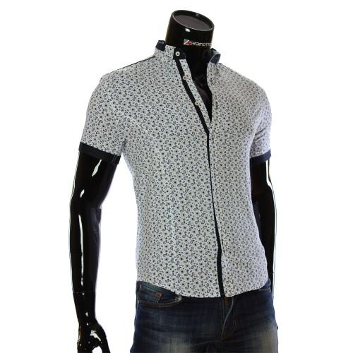 Men's pattern shirt Short Sleeve LL 1016-1