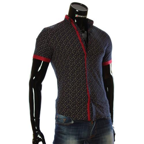 Чоловіча сорочка з коротким рукавом у візерунок LL 1016-2