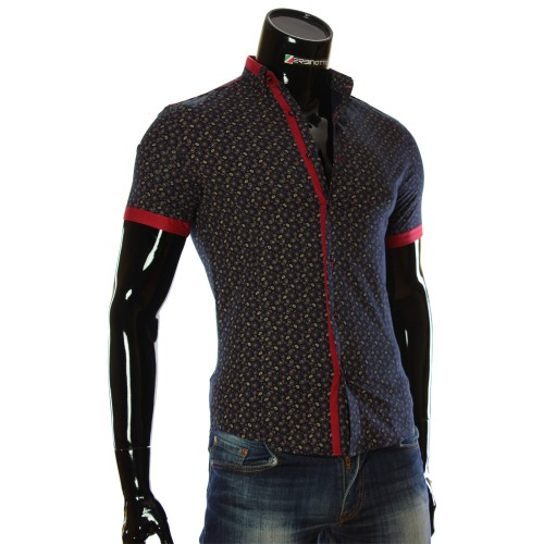 Men's pattern shirt Short Sleeve LL 1016-2