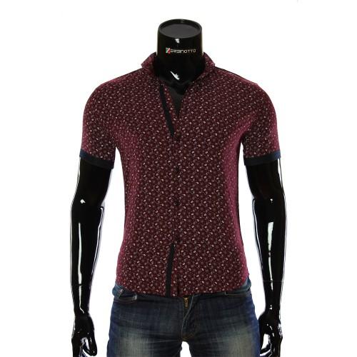 Men's pattern shirt Short Sleeve LL 1016-4