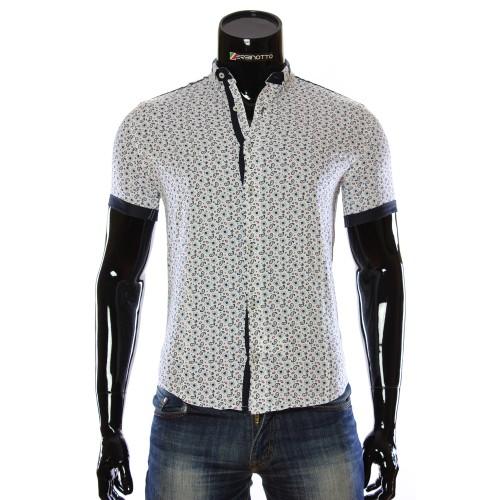Мужская рубашка с коротким рукавом в узор LL 1016