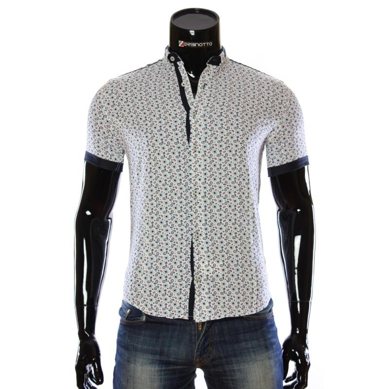 Чоловіча біла сорочка 1016 з принтом. Купити сорочку чоловічу 5546dddf2fe6d