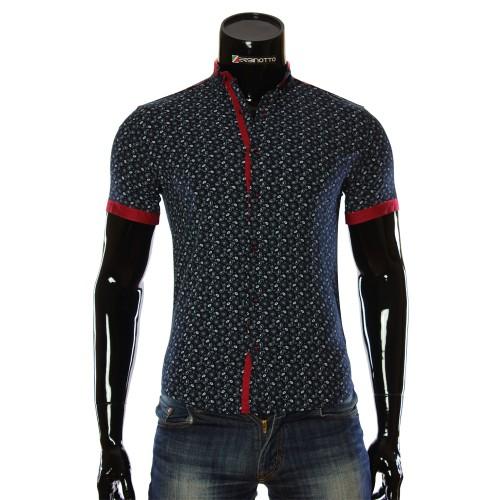 Мужская рубашка с коротким рукавом в узор LL 1016-5