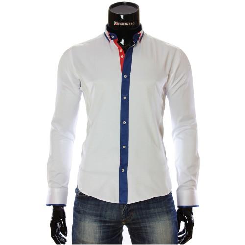 Мужская однотонная приталенная рубашка BL 1949-16