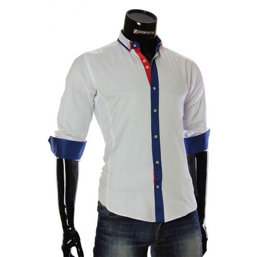 Чоловіча однотонна приталена сорочка BL 1949-16