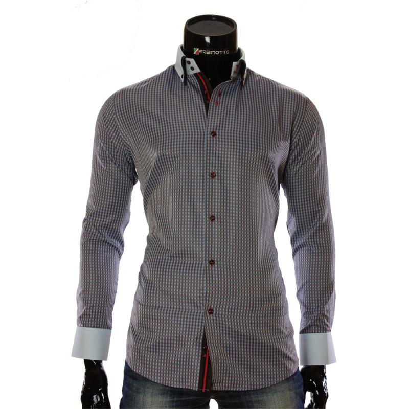 Мужская рубашка в клетку CC 1953-2