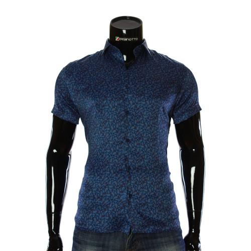Мужская рубашка с коротким рукавом в узор RV 1950-2