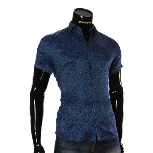 Чоловіча сорочка з коротким рукавом у візерунок RV 1950-2