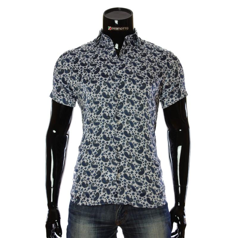 Чоловіча сорочка теніска 1950-4 з принтом. Купити сорочку чоловічу. aea85bb04e66d