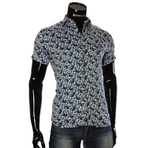 Мужская рубашка с коротким рукавом в узор RV 1950-4