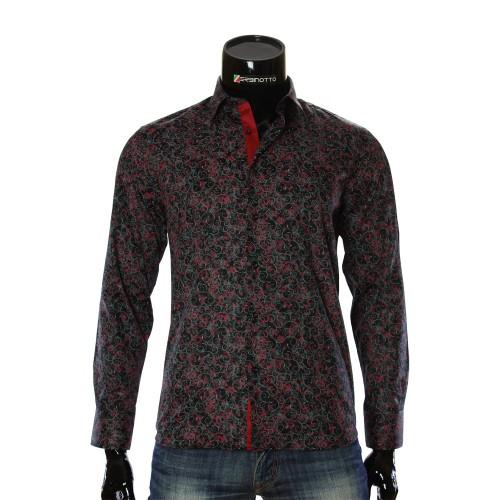 Мужская приталенная рубашка в узор RV 1952-1