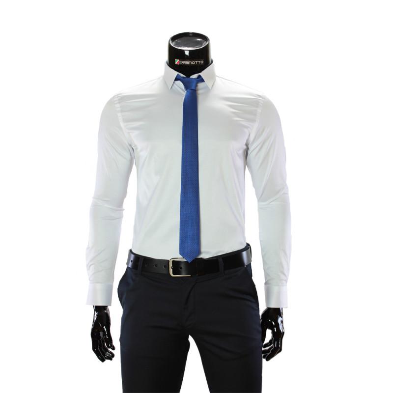 Мужская однотонная приталенная рубашка GF 7051-33