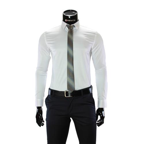 Мужская однотонная приталенная рубашка GF 7051-22