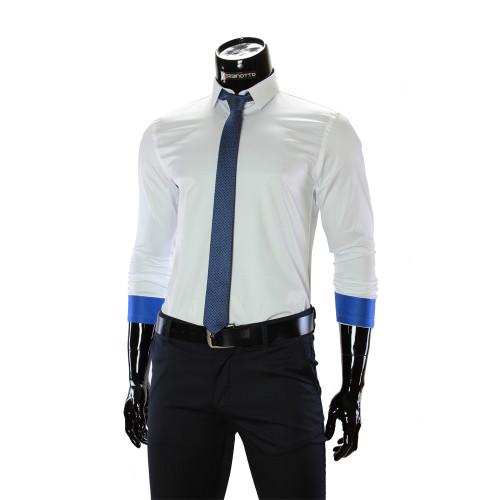 Мужская однотонная приталенная рубашка GF 7051-11