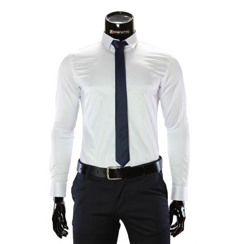 Чоловіча однотонна приталена сорочка GF 4002