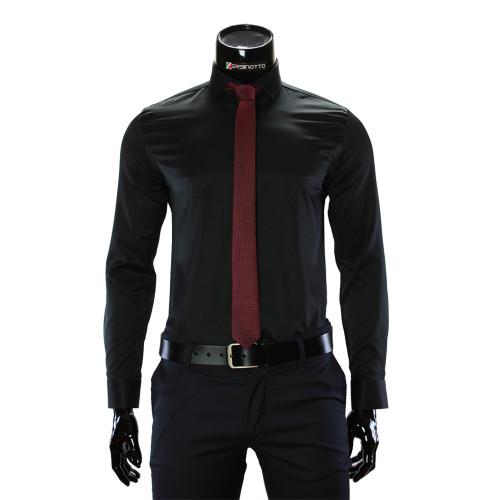 Чоловіча однотонна приталена сорочка GF 3016