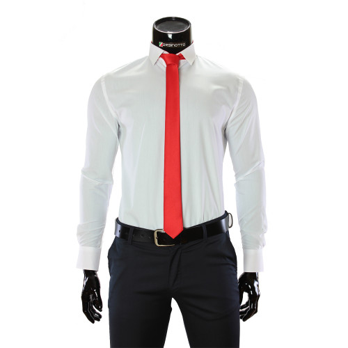 Чоловіча однотонна приталена сорочка GF 0411-44