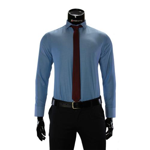 Чоловіча однотонна приталена сорочка RV 1955-3