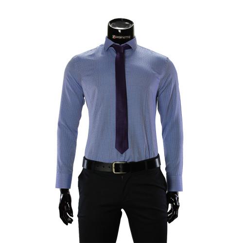 Чоловіча однотонна приталена сорочка RV 1955-5