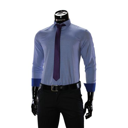 Мужская однотонная приталенная рубашка RV 1955-5