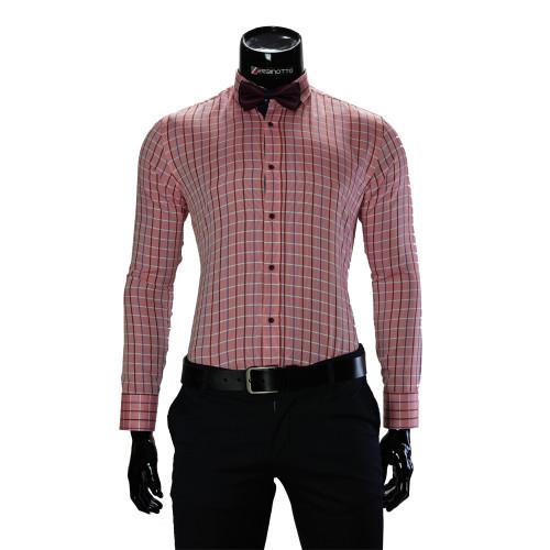 Мужская приталенная рубашка в клетку RV 1955-6