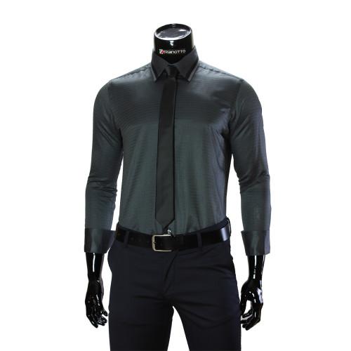 Чоловіча однотонна приталена сорочка BEL 1856-44