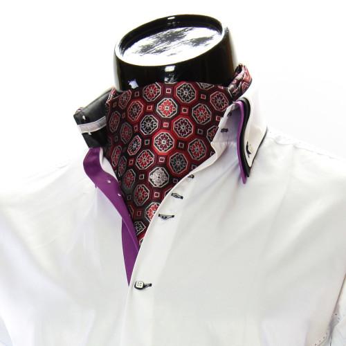 Men`s Floral Paisley Ascot Cravat CH 9050-1