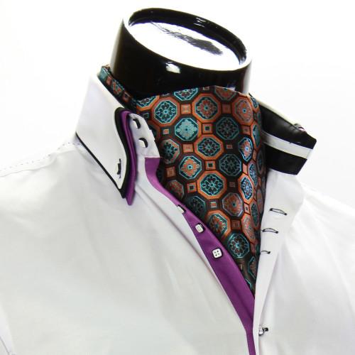 Men`s Floral Paisley Ascot Cravat CH 9050-2