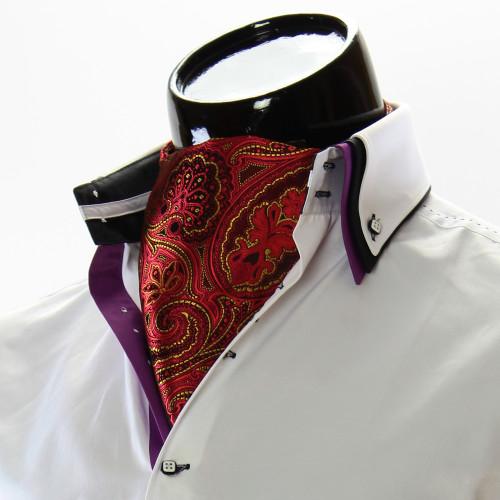 Men`s Floral Paisley Ascot Cravat CH 9050-11