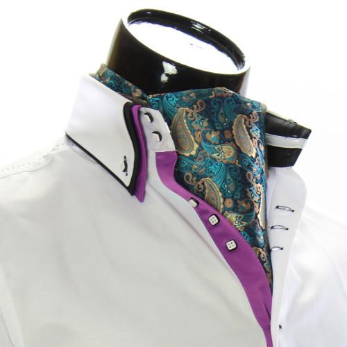 Men`s Floral Paisley Ascot Cravat CH 9050-17