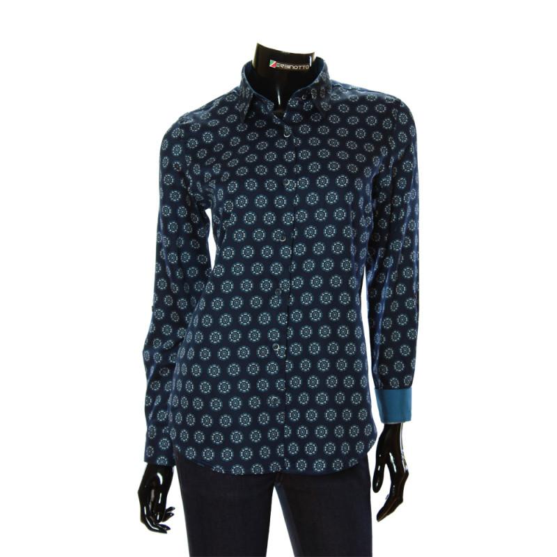 Women`s Cotton Pattern Shirt GR 1037-1