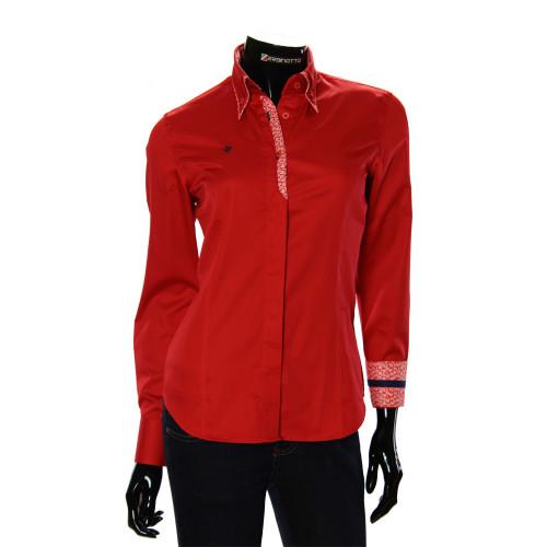 Женская однотонная приталенная рубашка TNL 1032-4