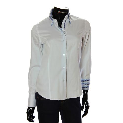 Женская однотонная приталенная рубашка TNL 1034-6