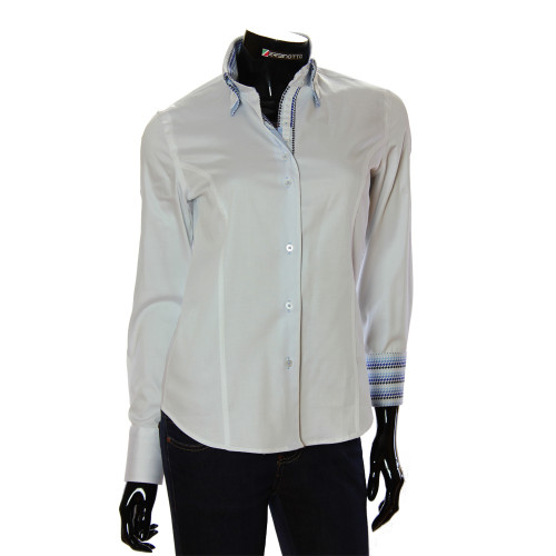 Жіноча однотонна приталена сорочка TNL 1034-6