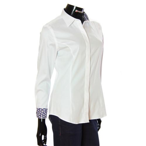 Женская однотонная приталенная рубашка TNL 1036-1