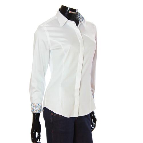 Женская однотонная приталенная рубашка TNL 1036-2