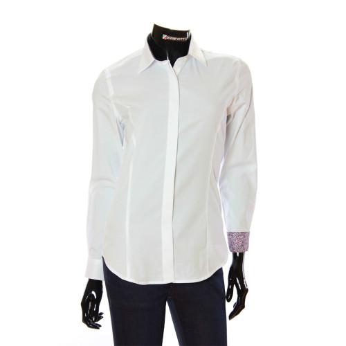 Женская однотонная приталенная рубашка TNL 1036-3
