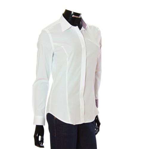 Жіноча однотонна приталена сорочка TNL 1036-3