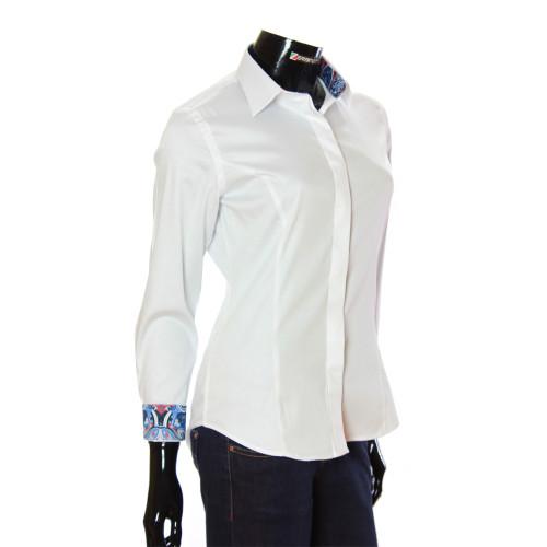 Жіноча однотонна приталена сорочка TNL 1036-4