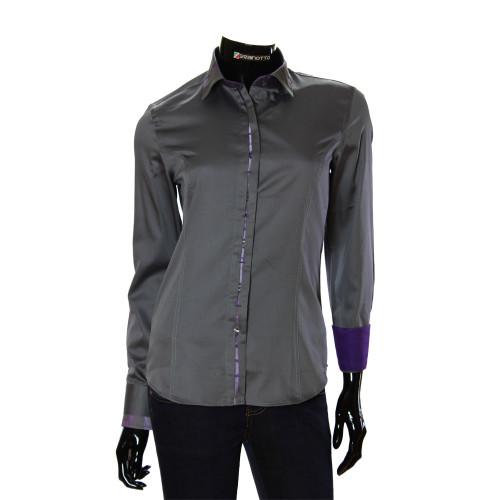 Жіноча однотонна приталена сорочка TNL 1035-1