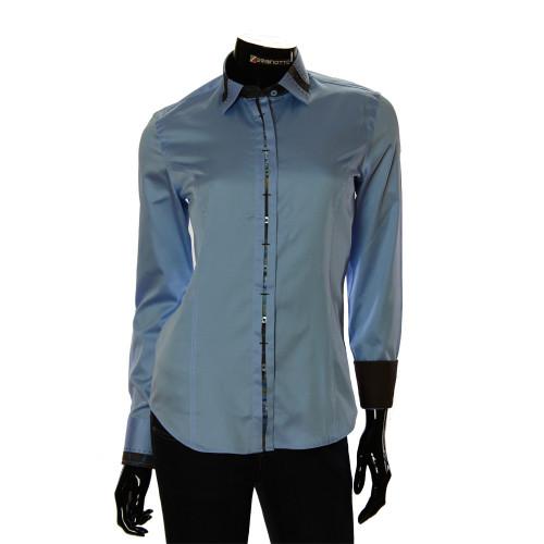 Женская однотонная приталенная рубашка TNL 1035-2