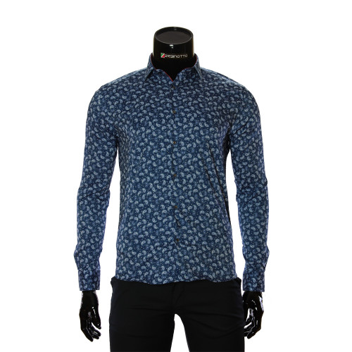 Чоловіча приталена сорочка у візерунок GF 6083-1