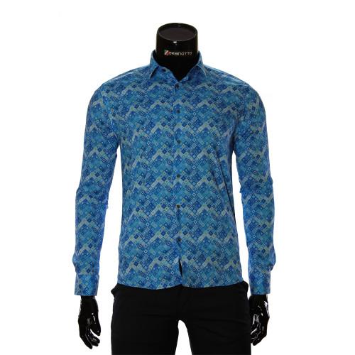 Мужская приталенная рубашка в узор GF 6083-2
