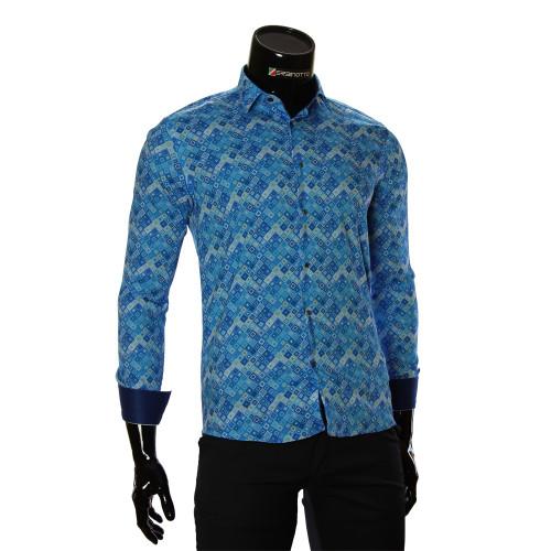 Чоловіча приталена сорочка у візерунок GF 6083-2