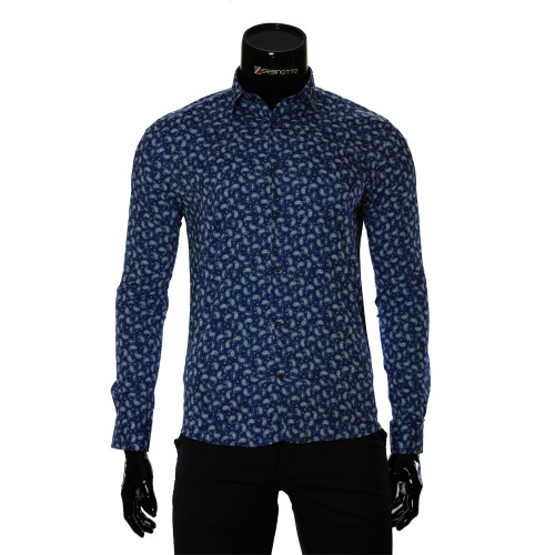 Pure Cotton Pattern Stretch Shirt GF 6083-3