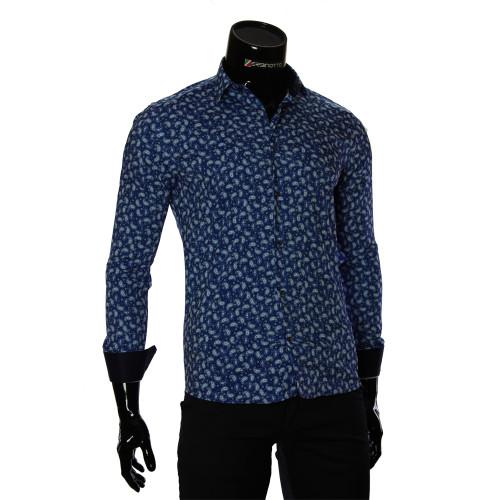 Мужская приталенная рубашка в узор GF 6083-3
