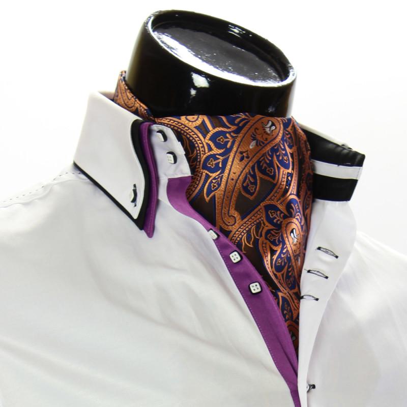 b7a1a3e1734 Мужской винтажный платок аскот CH9050-20. Купить галстук аскот на шею.